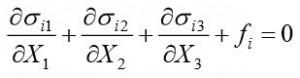 Equilibrium eqs